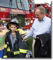Councilmember Jim Vogel and Fire Truck